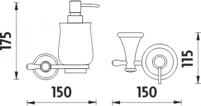 Nimco Lada Dávkovač tekutého mýdla LA 19031K-80
