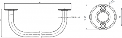 Aqualine Sušák pevný 40cm, bílá 8004