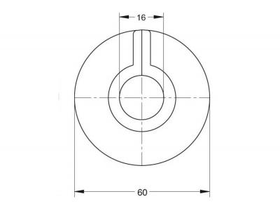 Bonomini Krycí rozeta na potrubí k radiátorům, průměr 16 mm, ABS/bílá 9930DN16B0