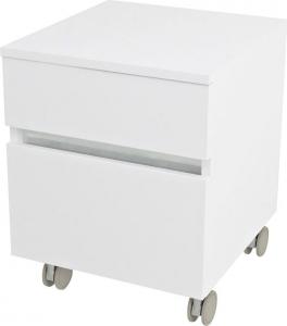 Sapho AVICE skříňka na kolečkách, 2x zásuvka 45x57x48, 5cm, bílá AV063