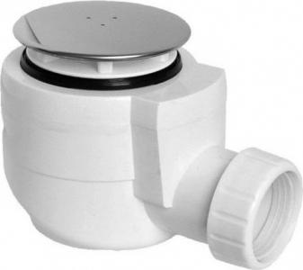 Sapho Vaničkový sifon, průměr otvoru 50 mm, DN40, krytka leštěná nerez EWN0540