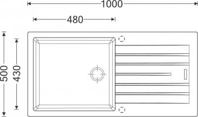 Granitový dřez Sinks PERFECTO 1000 Metalblack ACRPE10050074