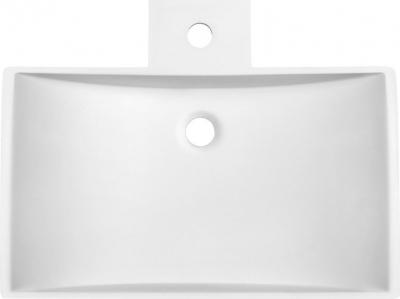 Sapho QUINTET umyvadlo na desku, 597x150x455 mm, bílá mat VK130