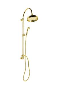Reitano Rubinetteria VANITY sprchový sloup s připojením vody ze zdi, retro, zlato SET055