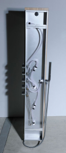 Polysan 5SIDE ROUND sprchový panel 250x1550mm, aluminium 80211