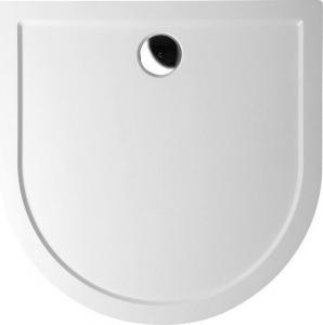 Polysan ISA 90 sprchová vanička z litého mramoru, půlkruh 90x90x4cm, bílá 50511
