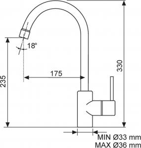 Sinks MIX 35 Metalblack AVMI35GR74