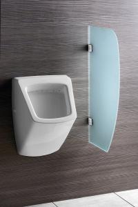 Sapho Oddělovací stěna mezi urinály 40x80 cm, sklo mat 2502-05
