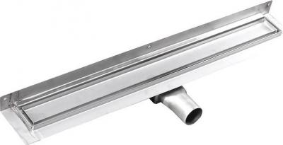 Gelco MANUS PIASTRA nerez sprchový kanálek s roštem pro dlažbu, ke zdi, 750x112x55 mm GMP93