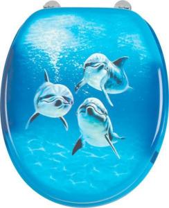 Aqualine FUNNY WC sedátko s potiskem delfíni HY-S115
