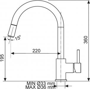 Sinks MIX 35 P lesklá AVMI35PCL