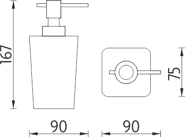 Nimco Eli Dávkovač tekutého mýdla EL 3031-35