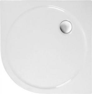 Polysan SONATA sprchová vanička akrylátová, čtvrtkruh 80x80cm, R500, bílá 56111