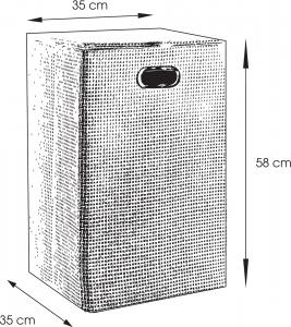 Aqualine Koš na prádlo 35x58x35cm, šedá LA3808