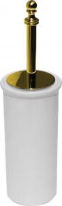 Sapho PERLA WC štětka na postavení, keramika, zlato PE1205