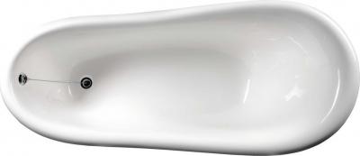 Polysan RETRO volně stojící vana 158x73x72cm, nohy chrom mat, bílá 37122