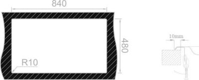 Nerezový dřez Sinks OKIO 860 XXL V 0,6mm MP68190