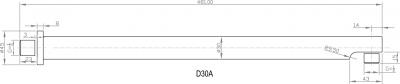 Sapho Sprchové ramínko 450mm, chrom D30A