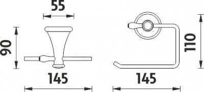 Nimco Lada staroměď Držák na toaletní papír LA 19055-80