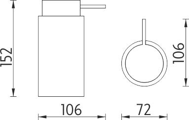 Nimco Pure Dávkovač tekutého mýdla PU 7031-50
