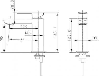 Sapho MIXONA 25 stojánková umyvadlová baterie, bez výpusti, chrom MG001