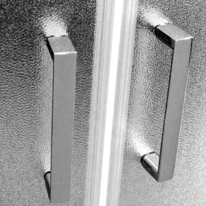 Mereo Sprchový box, čtvercový, 90cm, satin ALU, sklo Point, zadní stěny bílé, SMC vanička, bez stříšky CK34122BW