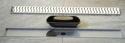 Polysan SCENE plastový sprchový kanálek s nerezovým roštem, 820x123x68 mm 71677