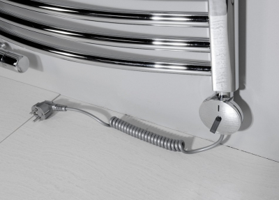 Enix Elektrická topná tyč s termostatem 300W, stříbrná GV-300S