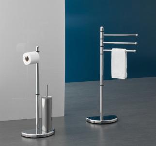 Aqualine HIBISCUS stojan s držákem na toaletní papír a WC štětkou, chrom HI32
