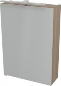 Sapho RIWA galerka s LED osvětlením, 50x70x17 cm, ořech bruno RW056