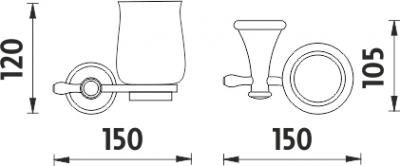 Nimco Lada Držák keramického pohárku LA 19058K-65