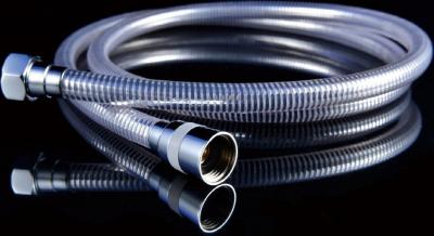 Aqualine LASER plastová sprchová hadice, hladká, 200cm, chrom/bílá 11200