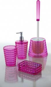 Aqualine GLADY dávkovač mýdla na postavení, růžová GL8076