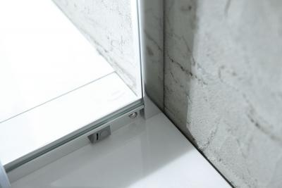 Aqualine AGGA čtvercová sprchová zástěna 900x900mm, čiré sklo HLF909