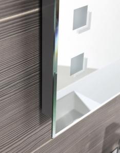Aqualine Zrcadlo s LED osvětlením 60x80cm, kolíbkový vypínač ATH56