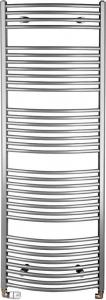 Aqualine ORBIT otopné těleso s bočním připojením 600x1690 mm, 909 W, metalická stříbrná ILA66