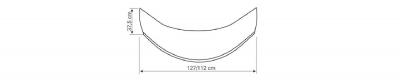 Aqualine Panel čelní k hluboké vaničce 90x90cm, výška 37, 5cm, bílá B93