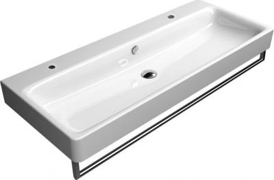 GSI SAND keramické umyvadlo 120x50 cm, 2 OTVORY, bílá ExtraGlaze 9024211