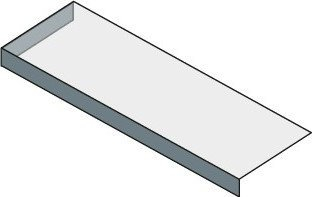 Sapho TAILOR rockstone deska 170x50 cm, provedení límce L TR170L