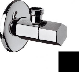 Sapho SPY rohový ventil s rozetou, 1/2'x 3/8' , černá mat PY58/15