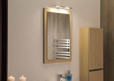 Sapho LARGO zrcadlo v rámu 600x800x28mm, dub benátský LA614