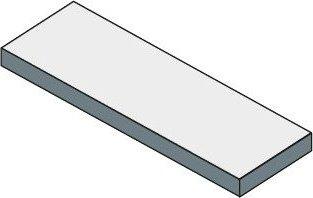 Sapho TAILOR rockstone deska 230x50 cm, provedení límce R TR230R