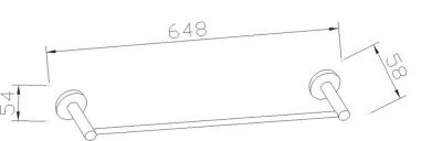 Aqualine SAMBA držák ručníků, chrom SB146