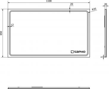 Sapho GEMINI LED podsvícené zrcadlo 1100x650mm GM110