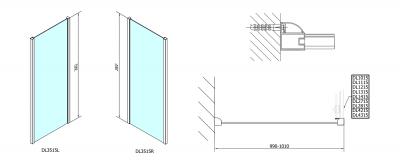 Polysan Lucis Line obdélníkový sprchový kout 1400x1000mm L/P varianta DL1415DL3515