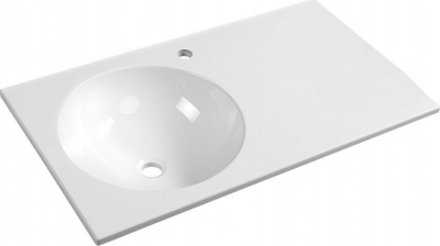 Sapho JUNO umyvadlo 80x15x47cm, litý mramor, bílá, levé JU080