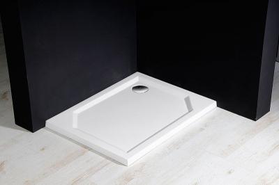 Gelco SARA sprchová vanička z litého mramoru, obdélník 90x80x4cm, hladká HS8090