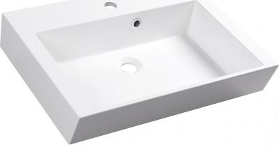 Sapho ORINOKO umyvadlo 60x45cm, litý mramor, bílá OR060