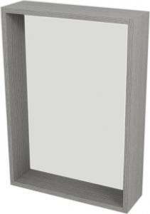 Sapho RIWA zrcadlo s LED osvětlením, 50x70x15 cm, dub stříbrný RW501