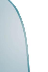 Sapho Oddělovací stěna mezi pisoáry 40x80 cm, sklo mat 2502-05